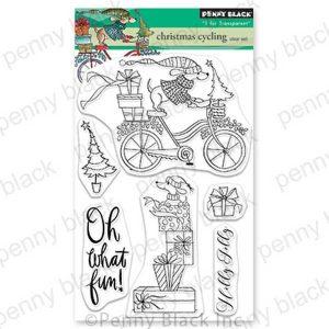 Penny Black Christmas Cycling Stamp