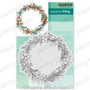 Penny Black Christmas Circlet Slapstick/Cling Stamp