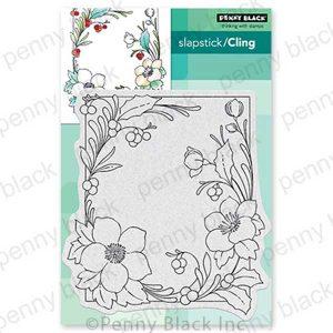 Penny Black Winter Blooms Slapstick/Cling Stamp