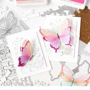 Pinkfresh Studio Butterflies Stamp Set class=