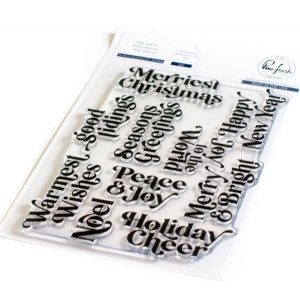 Pinkfresh Studio Perfect Sentiments: Holiday Stamp Set