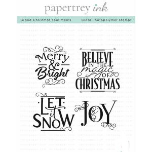 Papertrey Ink Grand Christmas Sentiments Stamp