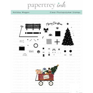 Papertrey Ink Holiday Wagon Stamp