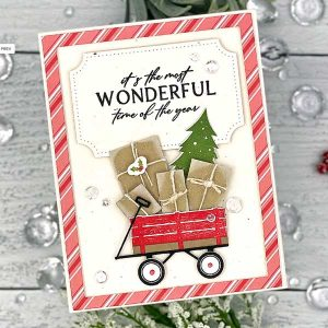 Papertrey Ink Holiday Wagon Stamp class=