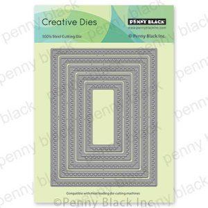 Penny Black Semi-Circle Stackers Die set