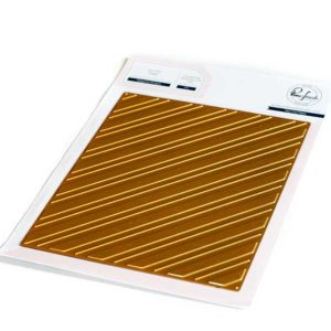 Pinkfresh Studio Diagonal Stripes Hot Foil Plate