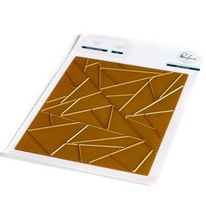Pinkfresh Studio Abstract Triangles Hot Foil Plate