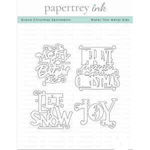 Papertrey Ink Grand Christmas Sentiments Die