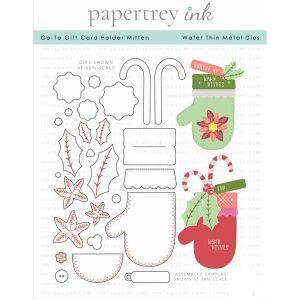 Papertrey Ink Go-To Gift Card Holder Mitten Die