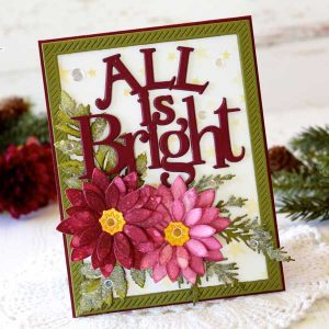 Papertrey Ink To Die For Sentiments: All is Bright Die class=