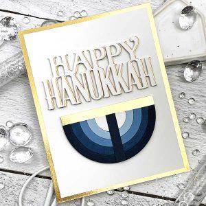 Papertrey Ink To Die For Sentiments: Happy Hanukkah Die class=