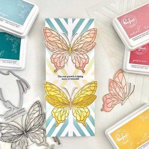 Pinkfresh Studio Butterflies Stencil Set class=