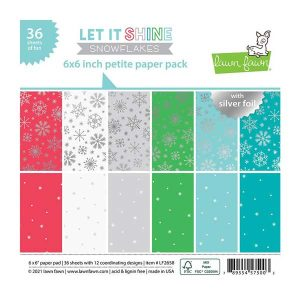 Lawn Fawn Let It Shine Snowflakes Paper Pack
