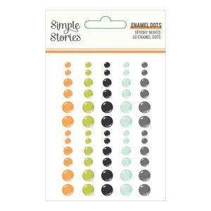 Simple Stories Spooky Nights Enamel Dots